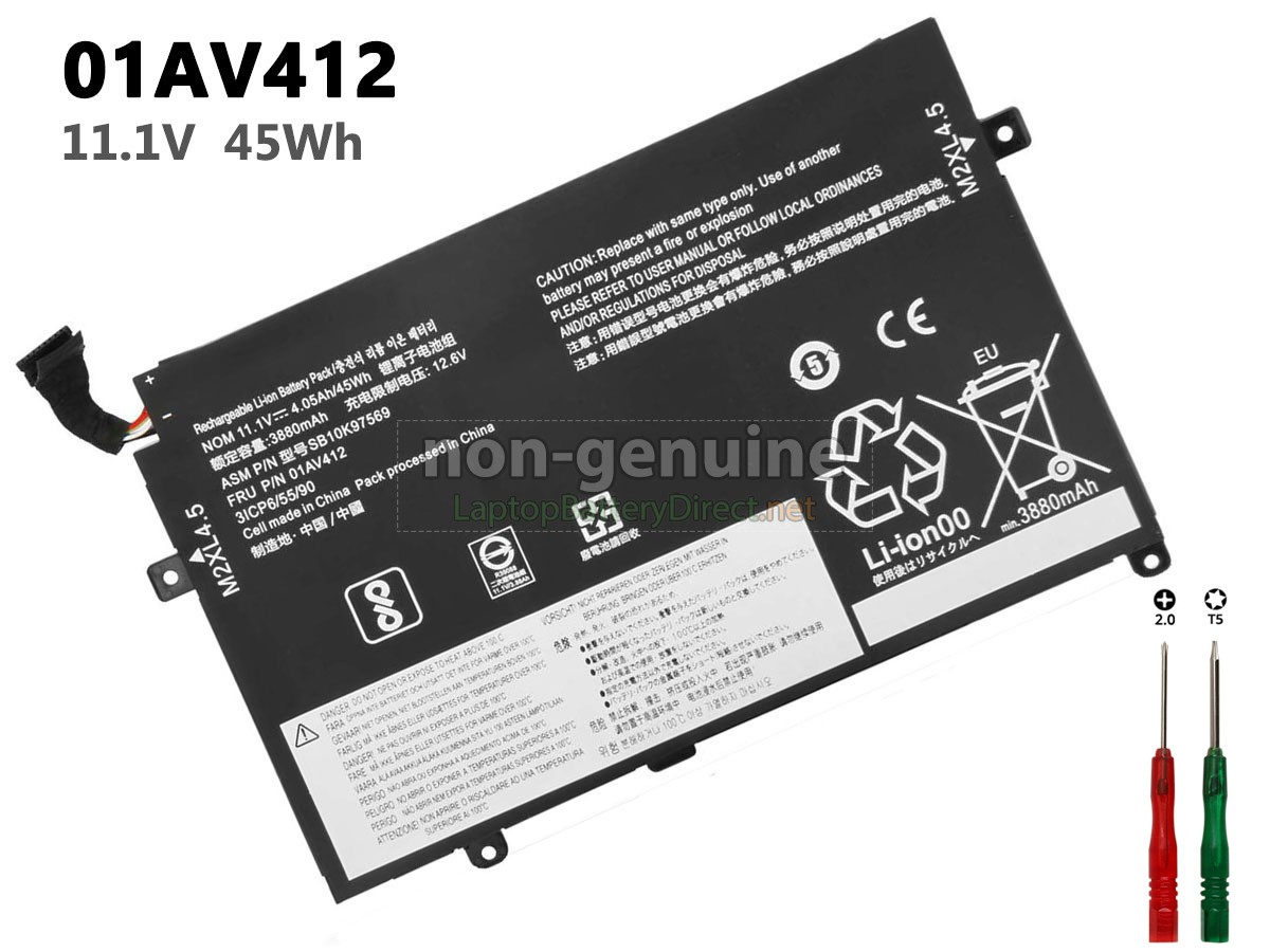 High Quality Lenovo Thinkpad E470 20h1 Replacement Battery Laptop Battery Direct